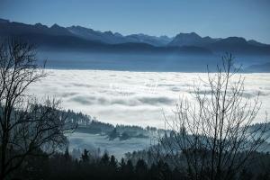 Nature Photography; Art; Landscape; Mountains; Rocks; Clouds; Fog, Switzerland; Zurich; Zurich sea; winter