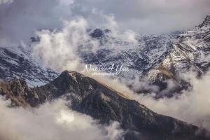 Nature Photography; Art; Landscape; Mountains; Rocks; Clouds; Fog, Switzerland; Glarus; winter