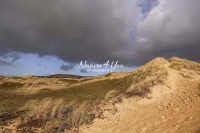 Dunes with upcoming storm in Normandy